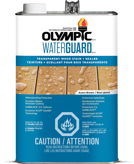 Tinted Waterproofing Sealant For Wood Toner Olympic Waterguard